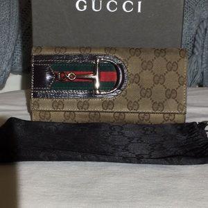 Gucci Horsebit Continental Wallet w dustbag